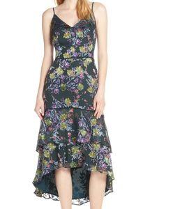 Harlyn   Velvet Floral High Low Tired Dress Sz XXL